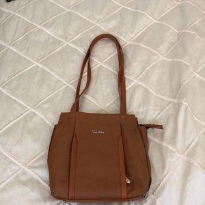 Valentina tan shoulder bag/ Backpack